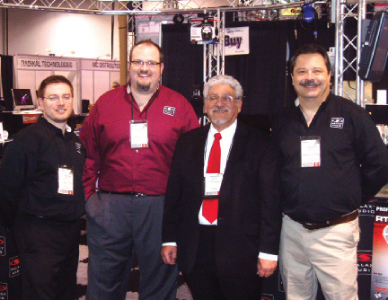 Grant Brewer, Yule Jabara, Brock Jabara and Chris Locke.
