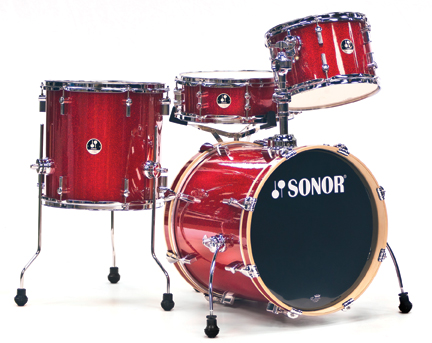 Sonor's Red Galaxy Sparkle Finish