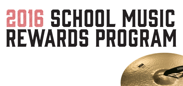 SABIAN School Music Rewards Program