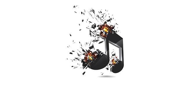 music exploding
