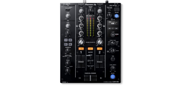 Pioneer DJ's DJM-450 two-channel mixer.