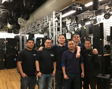 Canal Sound & Light's diverse, multilingual team members are service-minded and long-tenured, making them an invaluable asset.