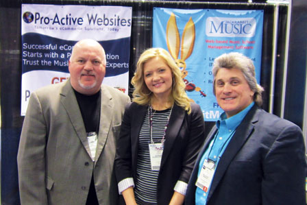David Hall with Julie Rankin of Jackrabbit Music and Bill Walzak of Pro-Active Websites