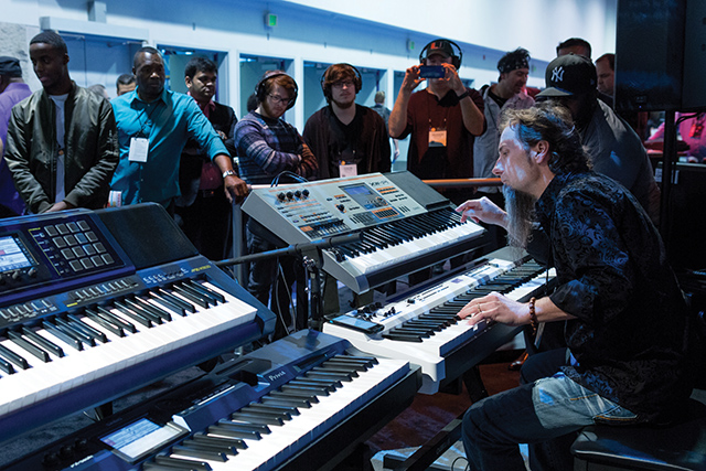 At the most recent NAMM Show, Casio continued its trend of packing showgoers into its booth, underscoring the company's renewed prominence among serious musicians.