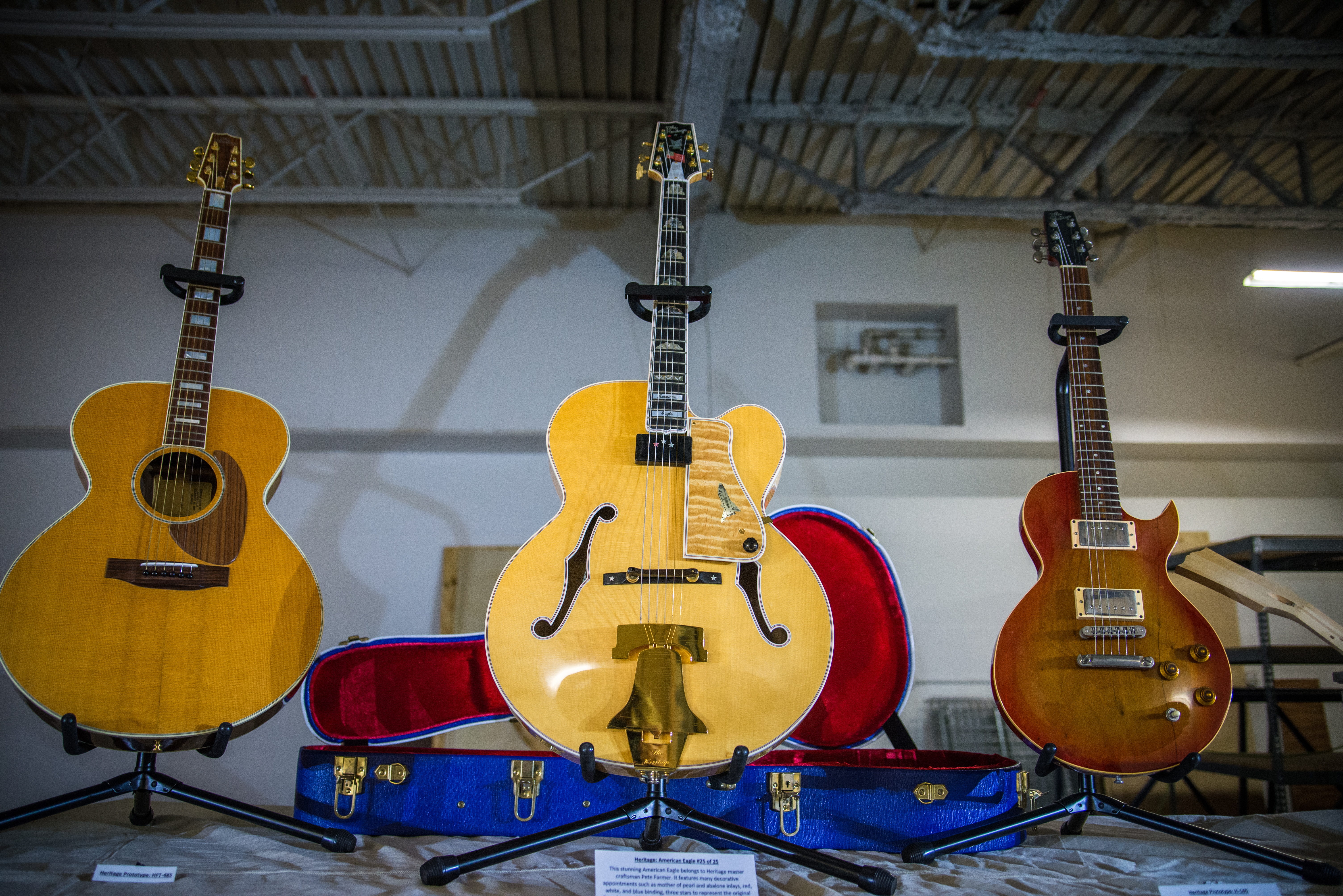 Heritage Guitar hosted a daylong celebration of 100 years in Kalamazoo, Mich., on Sept. 9.