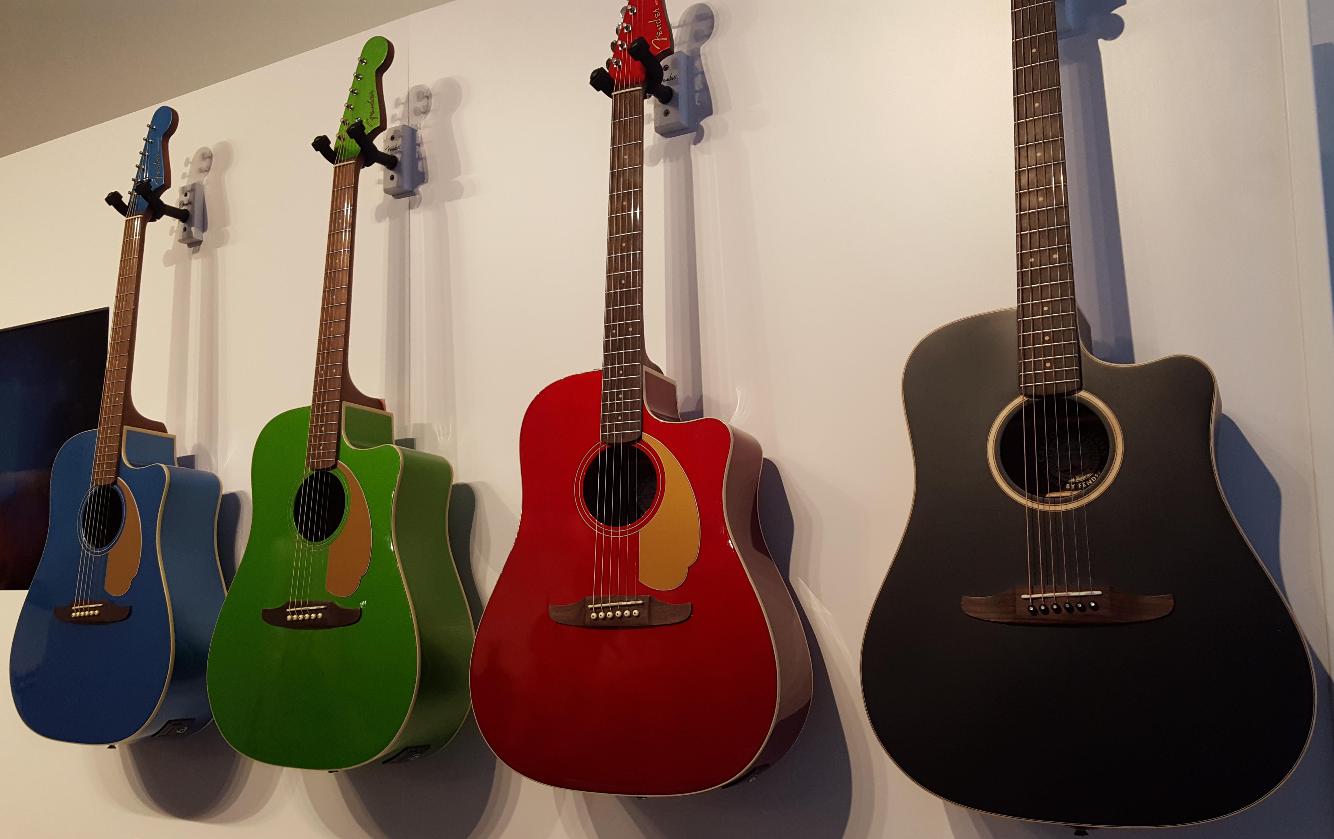 Fender's California Series acoustic guitars.