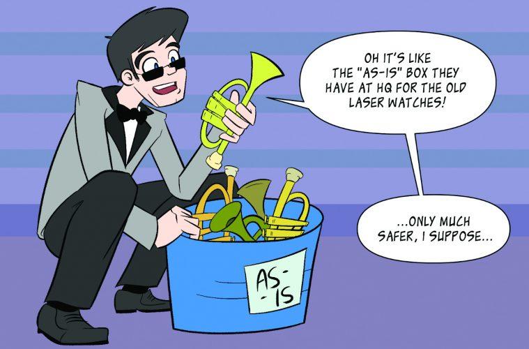 MI Spy, Trumpet Bucket