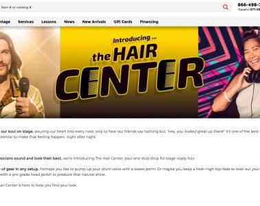 Guitar Center, Hair Center