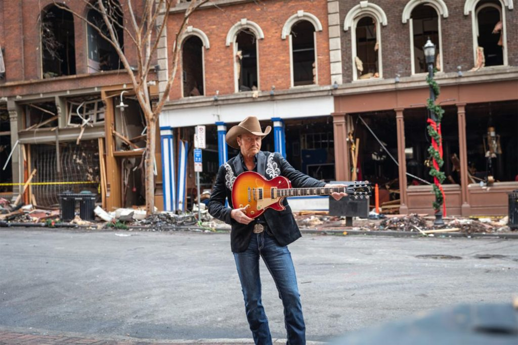 Buck McCoy with a Gibson Les Paul in nashville