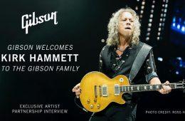 kirk hammett metallica guitarist partners with gibson guitars