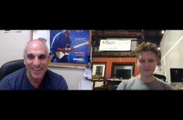 chaos audio CEO Landon McCoy zooms with Music & Sound Retailer editor Brian Berk