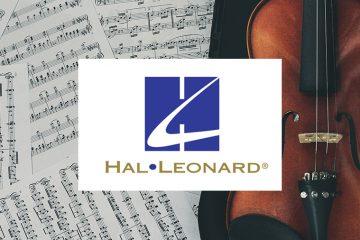 hal leonard logo on sheetmusic background