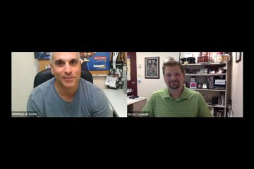 Hal Leonard's David Cywinski discussing percussion market trends in a zoom interview